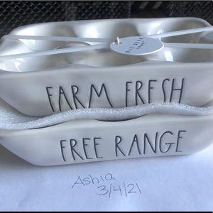 Rae dunn Farm Fresh/Free range Eggs
